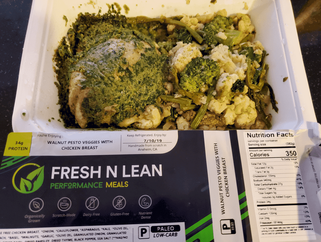 Fresh N' Lean - Walnut Pesto Veggies with Chicken Breast