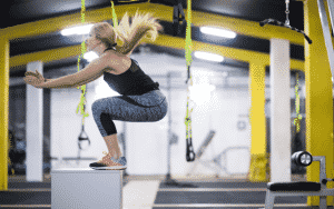 calisthenic endurance box jumps