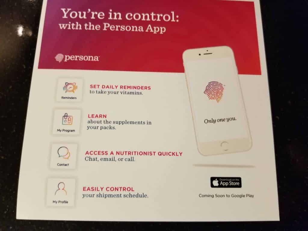 Persona Nutrition App