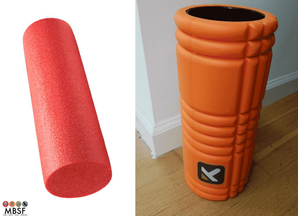 Foam Roller vs GRID Foam Roller-min