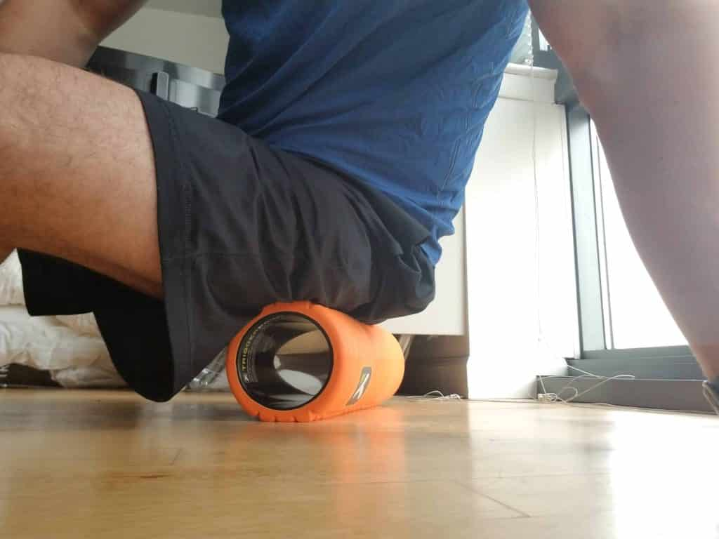GRID Foam Roller on Hips
