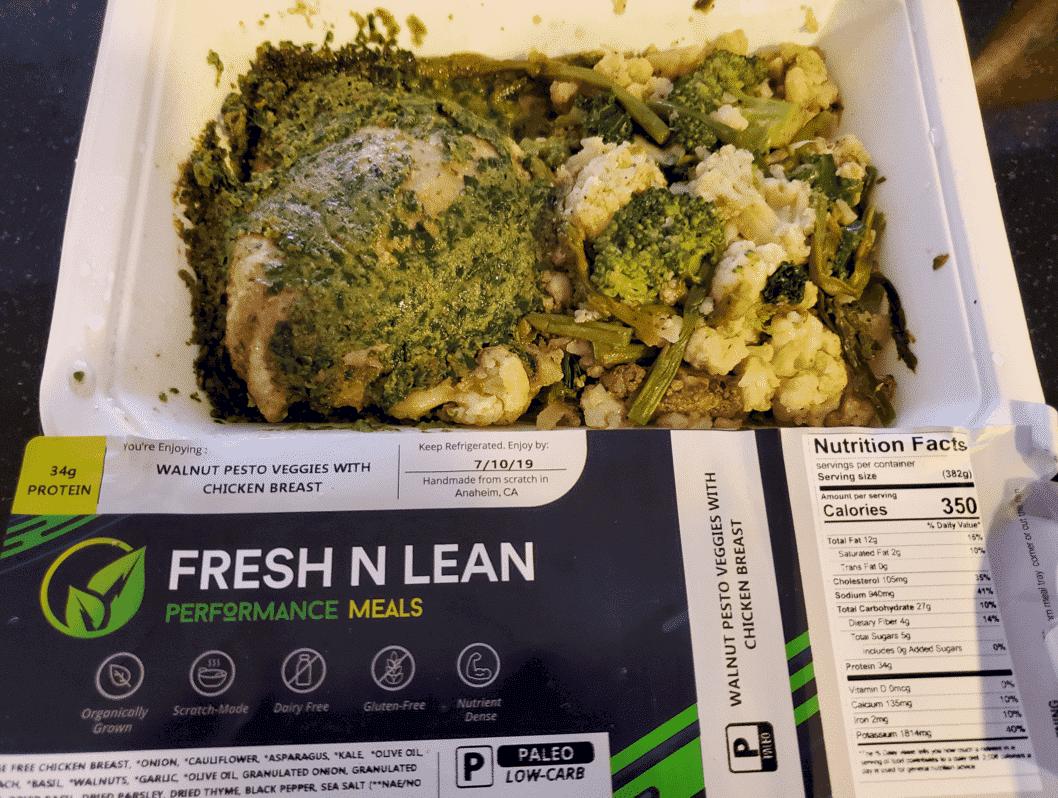 Fresh N' Lean - Walnut Pesto Veggies with Chicken Breast