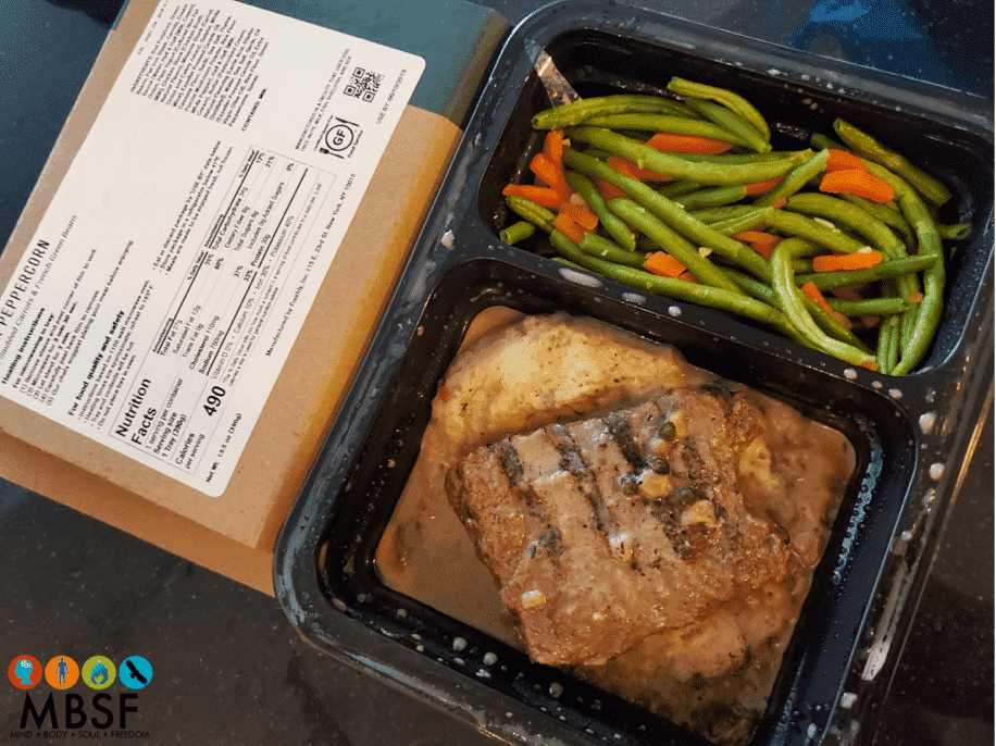 Freshly - Steak Peppercorn with Sauteed Carrots & French Green Beans