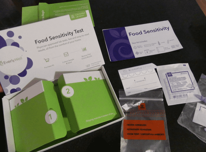 EverlyWell Home Food Sensitivity Test - Inside of the Kit