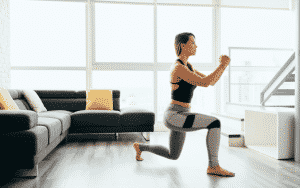 Calisthenic lunge for flexibility